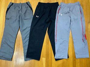 Under Armour Sweatpants Warmup Pants Lot black gray Mens LARGE