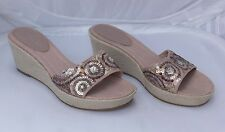 Next Pale Pink Sequin Wedge Sandals / Mules Size 6/39