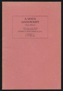1940 Facsimile Codex Merida Ancient Mayan Manuscript Glyphs Americas Literature