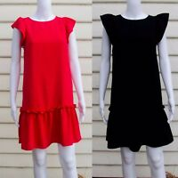 Loft Black, Red Sleeveless Dress Size XXS, XS, S, M