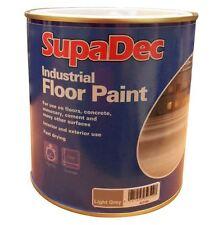 SupaDec Interior & Exterior Industrial Garage Floor Paint Light Grey - 1L
