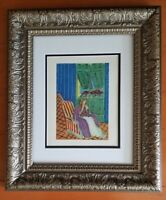 HENRI MATISSE ORIGINAL 1948  SIGNED AWESOME PRINT MATTED 11 X 14 + LIST IS  $895