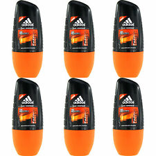 6 x 50ml Adidas Deep Energy Roll On Deo Deodorant Rollon Deostick Herrendeo