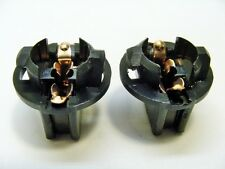 2x Chevy 194 Instrument Panel Cluster Light Bulb Lamp Dashboard Sockets Plug NOS