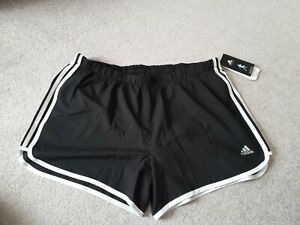 "Adidas Women's Size XL  Running Shorts 4""  Aero Ready Lined Black"