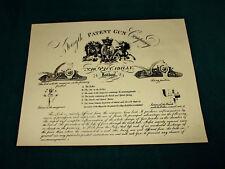 Forsyth Patent Gun Co. Gunmaker riproduzione carta Gun Case Accessori etichetta