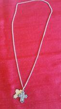 Saint Christopher/Saint Joseph Cross Pendant Necklace - Sterling Theda