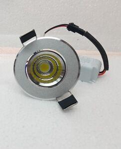 FARETTO LED 5W INCASSO (FORO 55mm) SILVER ORIENTABILE LUCE CALDA / LUCE FREDDA