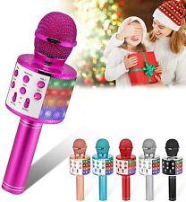 Mikrofon für Kinder LED Leuchten Drahtloses Bluetooth Karaoke Mikrofon Geschenke