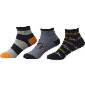 Stride Rite Toddler/Little Boy's 3-Pack Rockets Comfort Seam Quarter Crew Socks