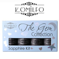 KIT - Komilfo The Gem Collection 8ml Colour Gel Nail Polish 8ml Lime Pink Purple