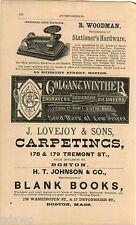 1876 ADVERT Colgan & Winther Engravers Designers Printing Woodman Stamp Tools