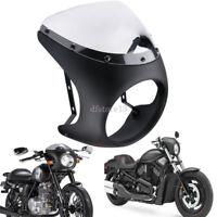 "Universal 7"" Headlight Retro Cafe Racer Handlebar Fairing & Screen Windshield US"