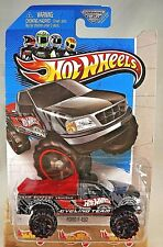 2013 Hot Wheels #45 HW City-City Works FORD F-150 Black Variant w/Red Bed Cover