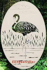 Flamingo Static Cling Window Decal New Oval 8x12 Bird Decor Right Facing