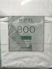 """King Sheet Set 800Tc 6pc Bright White Signature Sateen 18"""" Dp Supima Cotton"""