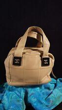 Authentic CHANEL 2003-2004 Beige Leather Patchwork Handbag Purse s/n 8839753