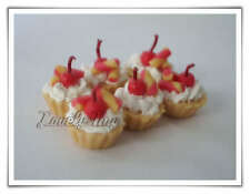 6 pcs.Loose Dollhouse Miniature Yummy Fruit Tarts: FT99
