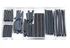 127PC Cable de envolver CALOR SHRINK WIRE WRAP Mangas conjuntos Heatshrink tubos Negro