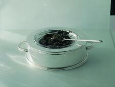 Ercuis Nura Caviar Bowl with Applied Border Silver Plate