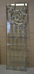 """Vintage Beveled Glass Door Panel Circa 1920's 20"""" x 63.5"""""""