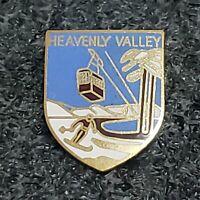 HEAVENLY Valley Skiing Ski Pin CALIFORNIA CA Lake Tahoe Resort Travel Lapel