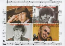 Beatles Ringo Starr Hey Jude Republique du Tchad 2013 estampillada sin montar o nunca montada SELLO Sheetlet
