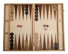 Backgammon, Kassette, 40 cm, Intarsie, Holz, Reisespiel