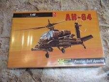 Vintage Model Kit 1:48 By Hobby Craft Apache AH-64 Attach Helicopter HC2451