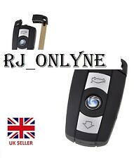 for BMW 1 3 5 6 7 Series E90 E92 E93 3 Button Remote Key Fob Case Smart Key+logo