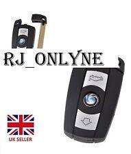 Para BMW 1 3 5 6 7 serie E90 E92 E93 3 botón remoto CLAVE FOB CASO Smart Key + Logotipo