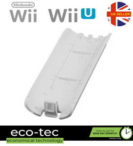 White Replacement Battery Back Cover For Nintendo Wii & Wii U Remote Controller