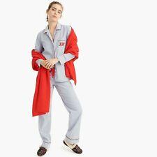 J. CREW Vintage Blue & White Striped Pajama Pjs Joy Set XXL NWT