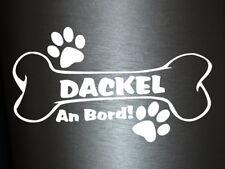 1 x Plott Aufkleber Hundeknochen Dackel An Bord Pfote Hund Dog Bone Knochen NEU