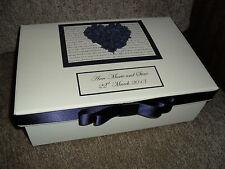 Personalised Large Wedding Engagement Birthday Keepsake Box Memory Box