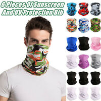 6X Outdoor Sport Headband Bicycle Neck Bandana Scarf Sun UV Protection Face Mask