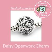 New Authentic Genuine PANDORA Silver Daisy Openwork Charm - 791492CZ RETIRED
