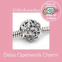 New Authentic Genuine PANDORA Silver Daisy Openwork Charm - 791492CZ RETIRED