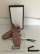 Gucci Soft Pink  Leather Princetown Horsebit flat loafers Size 37 marmont