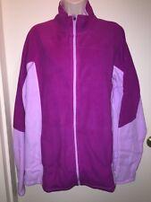 """TEK GEAR Women's Full-Zip DRY TEK Microfleece Mockneck Jacket""""BERRY LAVENDER"""" 2X"""