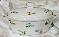 Anchor Ovenware FLORET 2 qt Oval Casserole Baking Dish with Lid