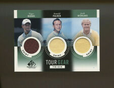 2013 Upper Deck NWP Tiger Woods Arnold Palmer Jack Nicklaus SP Tour Gear Patch