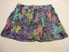 Women's Aeropostale Small Floral Pleated Sheer Skirt! Zipper Back Closure.