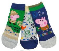 George Pig 3 Pack Toddler Sock UK 3-5.5 EUR 19-22 1-2 Years Dinosaur Explorer