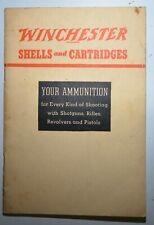 Winchester Firearms Shells & Cartridges Handbook Booklet 1938 Original .E3