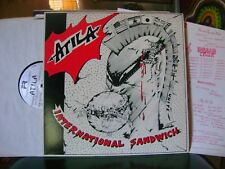 ORIGINAL PUNK 1980's LP~ATILA~INTERNATIONAL SANDWICH~W/INSERT~FISH RANCH~HEAR