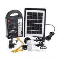 portable solar power station LED Light Kit Generator Emergency battery bank