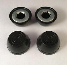 "Radio Flyer Wagon Wheel Axle Hub Cap 1/2"" .5"" Push Nut Black Set of 4"