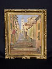 Camille Ravot (1873-1945) Vue de Roquebrune-Cap-Martin France 1931 Côte d'Azur