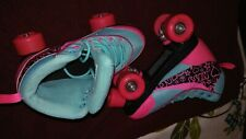 Girls Kandy Luscious Roller Skates Size 5 Excellent Condition Wild Print Boots